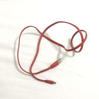 🚚 hoco. Fire Red USB-Lightning Cable