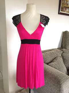 Fushia Lace Dress