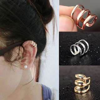 Gold Ear Cuff Piercing Earrings