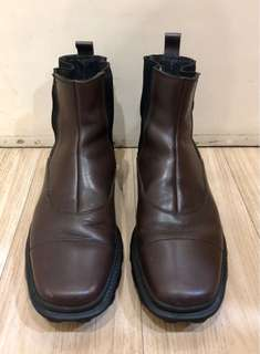 AUTHENTIC MIU MIU MENS BROWN SLIP ON BOOTS