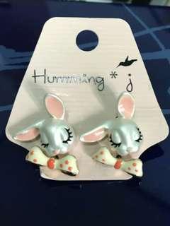 🚚 韓國 Humming 甜美兔 兔子 質感 針式耳環