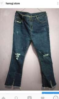 Celana Ripped Jeans Non Tembus model Cutbray