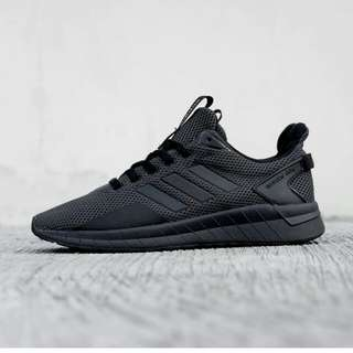 adidas questar ride full black 100% original