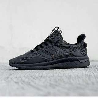 adidas questar ride full black 100% original