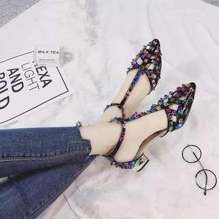 💓New Hot Selling💓Roman Sandals/Colorful Rivet Shoes