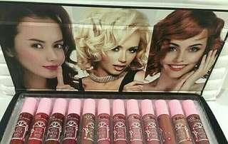 Satu Box isi 12 pcs Huda matte lip gloss