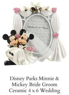 Disney Park Mickey & Minnie wedding frame