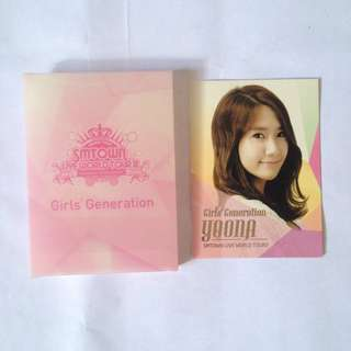 SNSD Yoona official photocard with case - Smtown