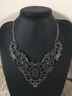 Gun metal grey necklace