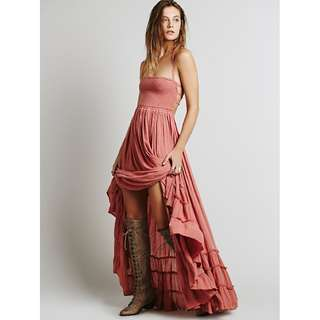 [PO] Backless Bohemian Maxi Dress