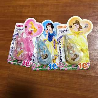 🚚 Stationery correction tape x60 pcs - princess & mickey mouse