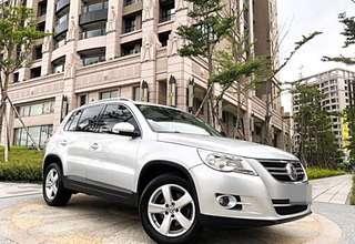 全額貸專區2009年VW TIGUNA 2.0T渦輪增壓馬力直上200匹 舒適安全的進口休旅 有12安