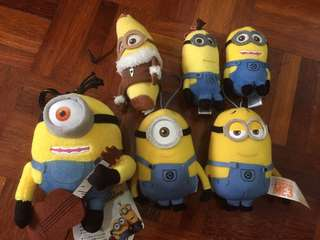 Minions Key Bag Holder Soft Plush Accessory Set
