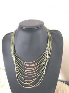 Khaki necklace