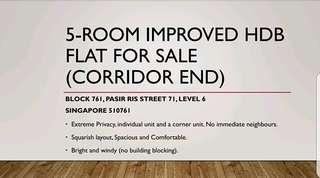 Pasir Ris 5I HDB for Sale - Privacy Unit
