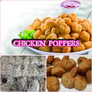 CHICKEN POPPERS WITH SAUCE 80 PCS