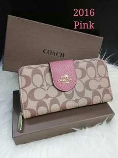 Coach Ladies Wallet Pink Color