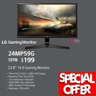 "LG 24MP59G 23.8"" 16:9 Gaming Monitor...,"