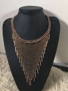 Gold mesh necklace