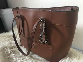 Tan leather guess bag