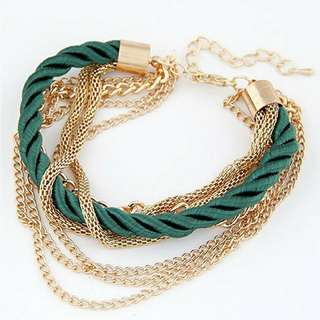 Multi chain bracelet bangles
