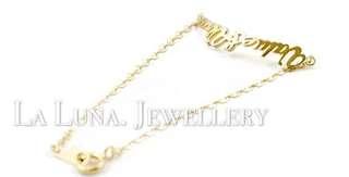 訂製你的名字18k真金玫瑰金白金手鏈腳鏈❤️珠寶訂製閨蜜情侶女朋友生日禮物