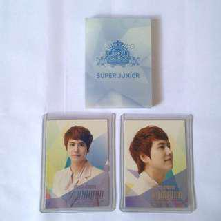 Super junior kyuhyun official photocard - smtown with card case
