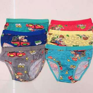 UNDERWEAR FOR KIDS 6PCS FOR 120 ONLY