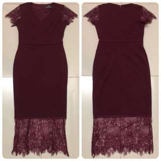 Doublewoot  Dress (Burgandy)
