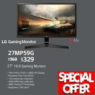 "LG 27MP59G 27""  16:9 Gaming Monitor..,"