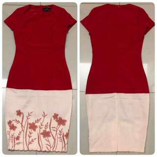 Doublewoot  Dress (Red & Cream)