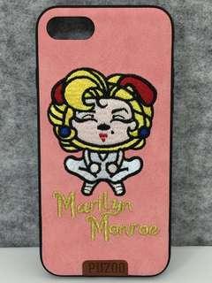 iPhone 7/8 iPhone case embroidery 刺繡 夢露 粉紅色 粉橙色
