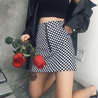 [PO] jisoo blackpink checkered skirt