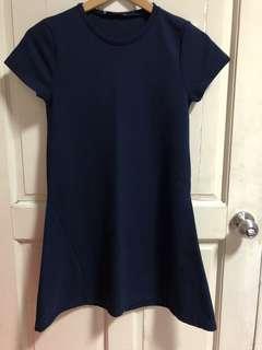 Zara Trafaluc Navy Blue Dress