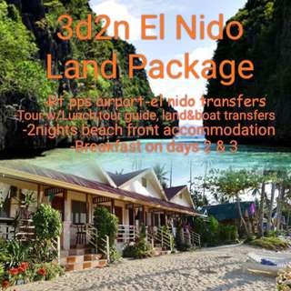 3d2n EL NIDO LAND PACKAGE WITH TOUR