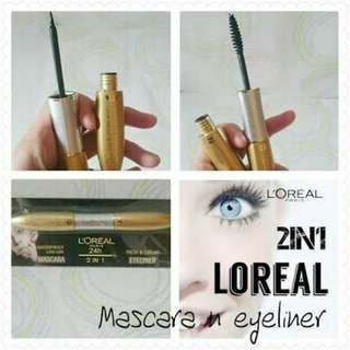 Maskara eyeline L'Oreal 2in1