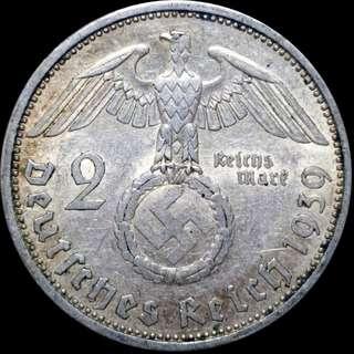 1939A AU Silver 2 Reichsmark