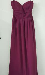 New with tag Double-woot Delexiq Long Maxi Dinner /Bridesmaid Dress.
