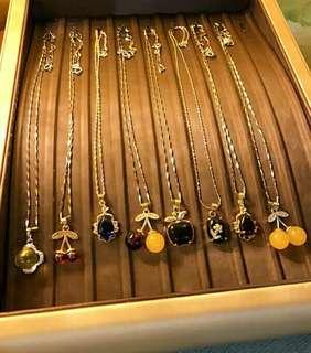 加持 S925純銀 頸鏈+吊墜飾品,k金 銀雙色鏈+吊墜飾品 【左圖3,6】平安吉祥如意 特惠結緣