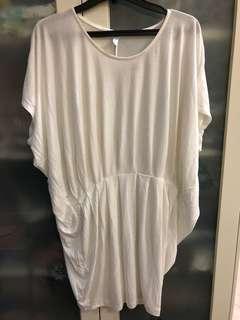 No brand long white blouse