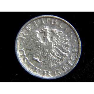 1949年奧地利共和國(Austria)大鷹國徽10戈羅辛鋅幣(戰後初年_