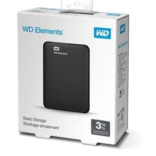 New 3TB Portable HDD (Western Digital)