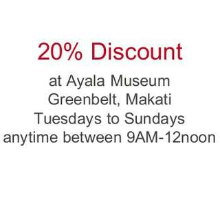 Visit to Ayala Museum 20% Discount