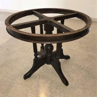 Original Vintage Kopitiam Round Table Without Marble Top