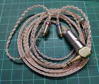 8絞7N單晶銅加銀金屬CM 耳機升級線 加強高音bass