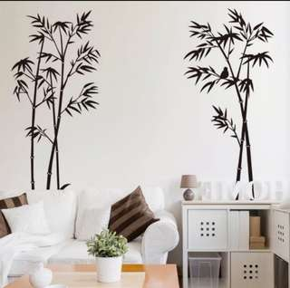 Old Style Chinese Bamboo Plant Wall Stickers