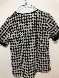 Houndstooth blouse - No Brand