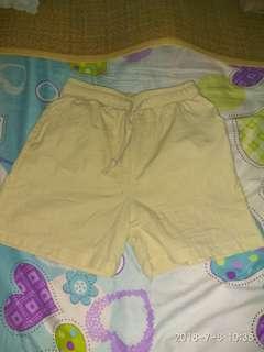 全新短褲米色杏色