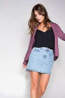 FAYT the label Curtis denim skirt