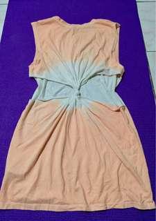 💯Original 21 Tie Dye Muscle Tee Dress (Sexy Back)